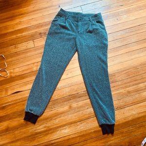 Free People stretch herringbone tweed jogger. 2/XS